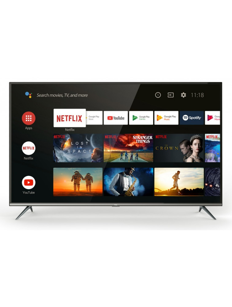 TCL 43EP640 EP640-SERIES Τηλεόραση 43'' 4K HDR ANDROID TV Pro-1200PPI-10bit DVB-T2/C/52 (Με Επιτραπέζια Βάση)